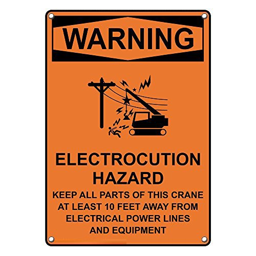 Weatherproof Plastic Credence San Diego Mall Vertical OSHA Electrocution Warning Hazard
