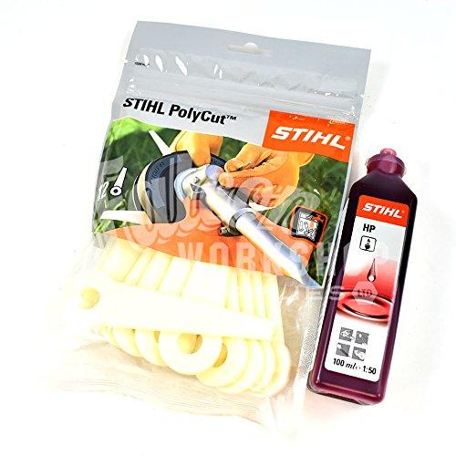 Seddons Stihl - Cuchillas de Corte de poliéster (12 Unidades, 100 ml, Aceite de 2 Tiempos)