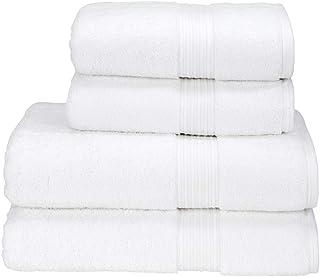 550 GSM White Color Hand & Bath Towel 2 Pcs Set