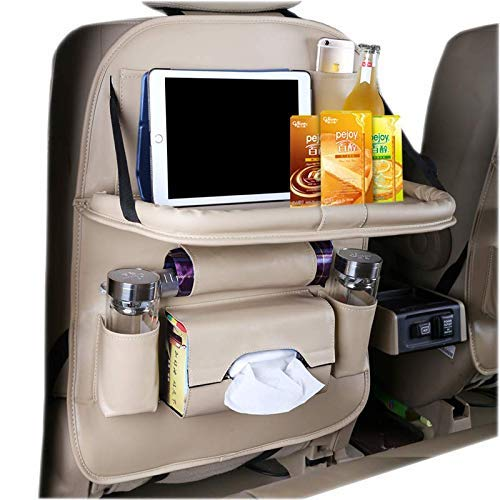 HEYLOVE Car Seat Protector+Backseat Organizer with Tablet Holder and Foldable Tray, Durable Quality...