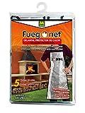 FUEGO NET Fuegonet 231457 Delantal Protector de Calor, Plateado, 21x33x2 cm