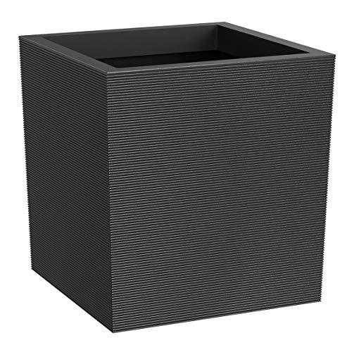 ECO GARDEN Citadelle Horizon - Maceta de Goma reciclada, 36 cm