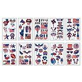 Jky - Tatuajes temporales Patriotic Tattoo Pegatinas Estados Unidos Party Favors para 4 de julio decoración y eventos patrióticos, 2 sets