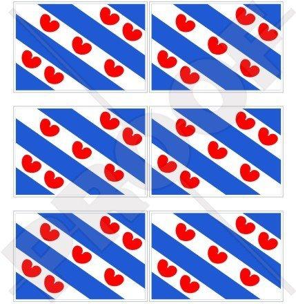 FRIESLAND Frisia Vlag Nederland, Fryslân Nederland Nederlands 40mm (1,6