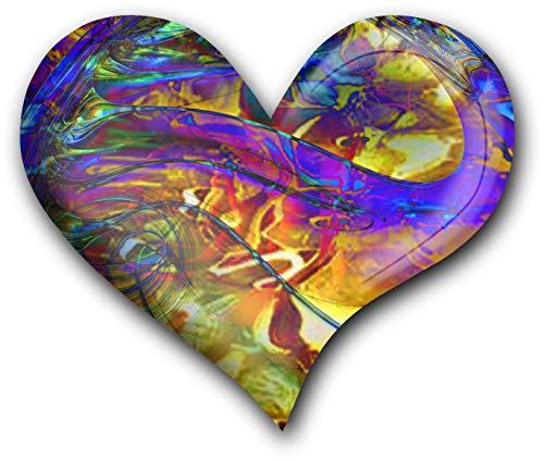 metALUm Herz Acrylmagnet mit starkem Neodym - Magnet Fraktal - Muster #131101062