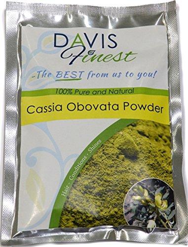 Cassia-Obovata-Pulver von Davis Finest,reiner, natürlicher Conditioner zur Haarverdickung und für starkes und glänzendes Haar, neutrales Henna-Haarfärbemittel für...