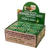Lucho Dillitos Energy Block Guave Feijoa 27 unidades de 40 g barritas de energía de Guave & Feijoa | empaquetadas en una hoja bijao compostable | para mayor resistencia en deporte y ocio