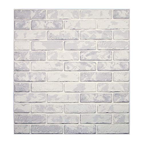 Papel tapiz de ladrillo 3D, repique extraíble y pegatina de pared de espuma PE para sala de estar sq ft 3.875/pcs (Oscuro Gris ladrillo 5 Piezas)