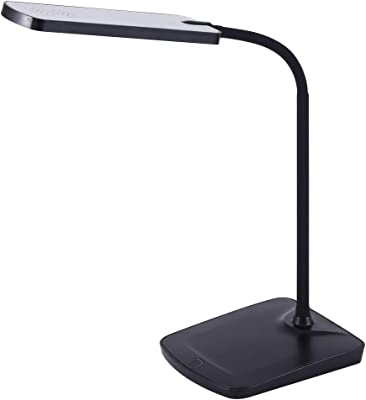 PureOptics LED Goosneck Desk Lamp with USB Charging Port, Touch Activated Dimmer (VLED1505)