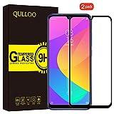 QULLOO Protector Pantalla Xiaomi Mi A3 Cristal Templado [2.5d Borde Redondo] [9H Dureza] [Anti-Huella] Vidrio Templado para Xiaomi Mi A3 - (2 Piezas,Negro)