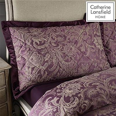 Catherine Lansfield Regal Jacquard Pillowsham Pair Plum