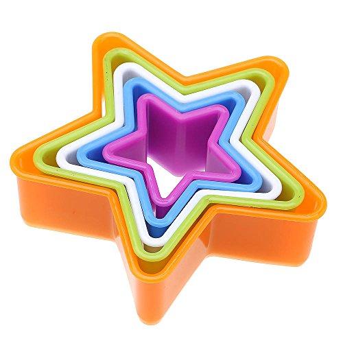?1jeu plastique Biscuit moulage moule gâteau cuisson outil étoile couleur aléatoire