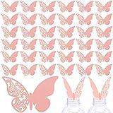 50 Piezas Tarjeta de Copa Mariposa, Etiquetas Decorativas en Copa, La decoración elegante se suma a la atmósfera de la boda.