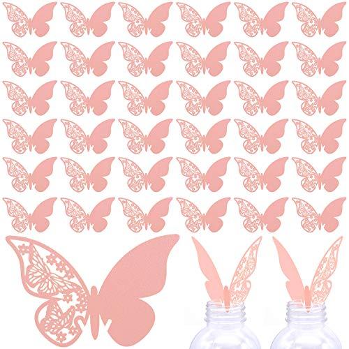 50 Pezzi Segnaposti di Farfalla, Segnabicchiere di Festa Nuziale Decorazione, Decorazioni per Feste Matrimonio Aumenta l'atmosfera del matrimonio