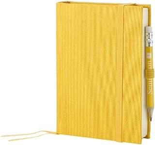 Semikolon Petite Voyage Linen Travel Diary, Bookmark and Pencil, Sun Yellow (051-01)