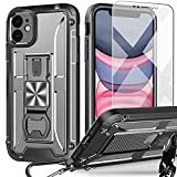 UMIONE Case for iPhone 11, with [Carabiner & Screen Protector], Heavy Duty Military Grade Rugged Phone Protective Case with Kickstand & Bottle Opener for iPhone 11