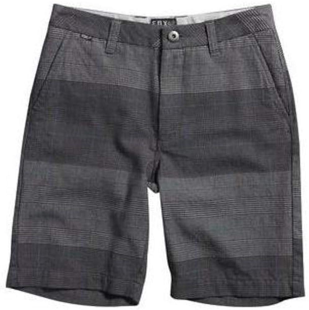 Fox Kids Boy's Essex Plaid Short (Big Kids) Black Shorts 27 (14 Big Kids)