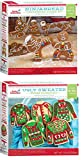 Crafty Cookie Kits - Cookie Mix With Cookie Cutters - In The Mix Ugly Sweater Cookie Kit, 11.5 Ounce And Gingerbread Cookie Kit, Ninja, 9.5 Ounce (1 Ugly Sweater and 1 Ninjabread)