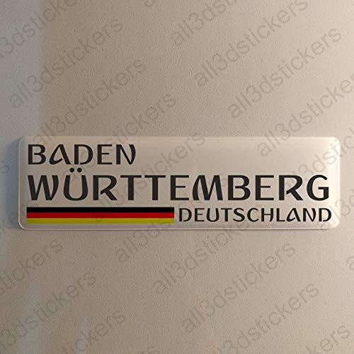 Baden-Württemberg Deutschland Aufkleber Baden-Württemberg 120x30mm Autoaufkleber Flagge 3D Fahne Germany