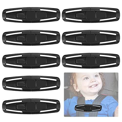 Clip de Seguridad para el Pecho 8Pcs Hebilla de Seguridad en el Pecho Diseñado para bebés Hebilla para Cinturón de Seguridad de Coche Proteger al bebé