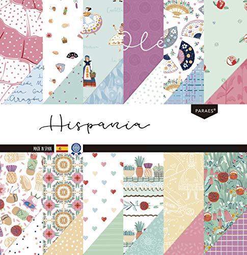 PARAES Hispania Papel Scrapbooking 30x30-24 hojas - Papel Scrapbook, Scrapbooking Papeles, Papel Scrap, Scrapbooking Materiales, Papeles Decorados