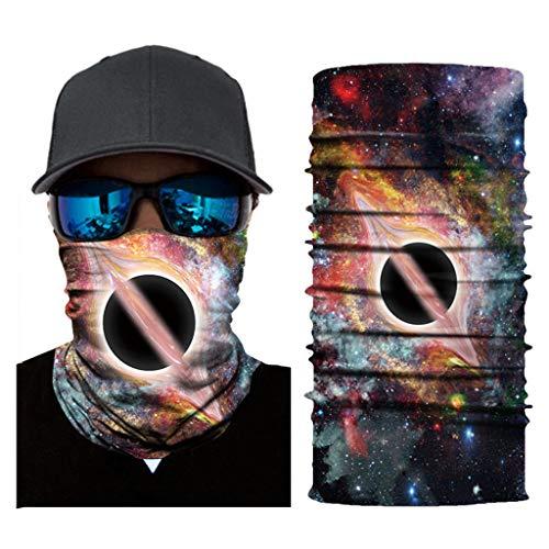 MOTOCO 3/6Pcs Face Shields Bedrucktes Multifunktionstuch Damen Herren Elastische Halstuch Nahtlose Schlauchtuch UV Schutz für Yoga Radfahren Motorradfahren(25X50CM.E3)
