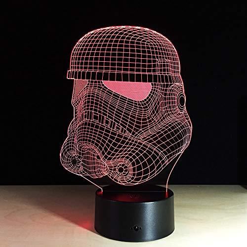 jiushixw 3D acryl nachtlampje met afstandsbediening van kleur veranderende lamp 's nachts indoor kinderen glazen tafellamp