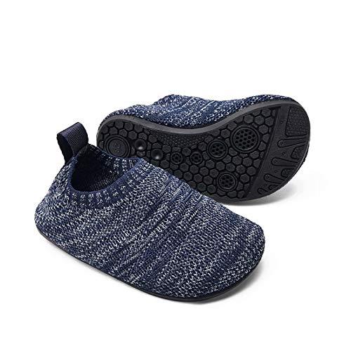 Sosenfer Kinder Hausschuhe Jungen mädchen Anti-Rutsch Sohle Kleinkinder Schuhe Baby Slipper Unisex-SHLANHUI-24