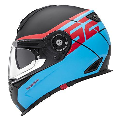 SCHUBERTH S2 SPORT Rush Blue Casco de moto integral (S,azul)