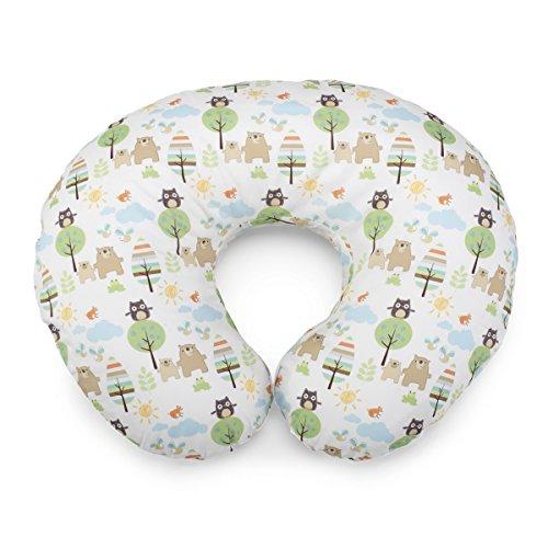 Boppy 08079902320000 - Cojín de lactancia de algodón con estampado Boppy Honey Bear, color blanco y verde