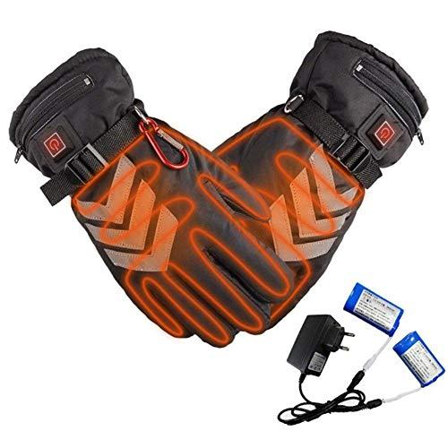 CTEGOOD Elektrische Heizhandschuhe Winterhandschuhe Batterie Beheizt Skihandschuhe für Herren Damen mit 3 Stufen Temperaturregler und Touchscreen