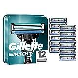 Gillette Mach3 Men's Razor Blades with Precision Trimmer, Pack of 12 Refill Blades