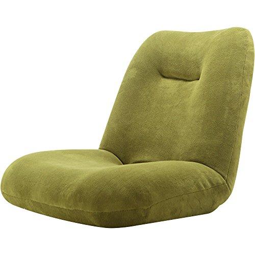 LOWYA ロウヤ 座椅子 42段階リクライニング ワイド座面 ポケットコイル ソフト生地 オリーブ