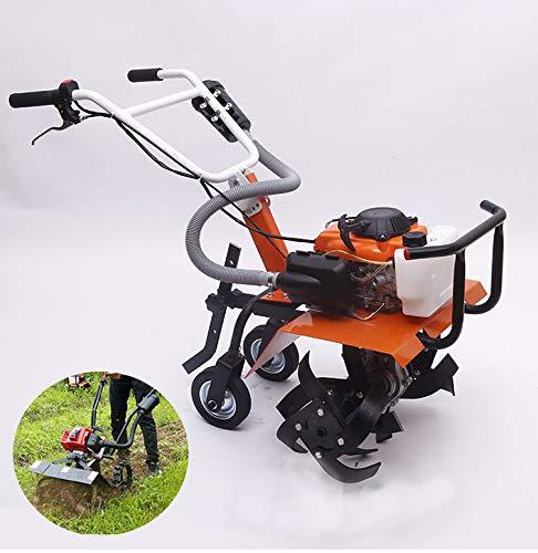 Draagbare kleine roterende cultivator, grondvergraving, moestuin tuimelen, benzine micro-grondbewerkingsmachine, huishoudelijk graslandgras