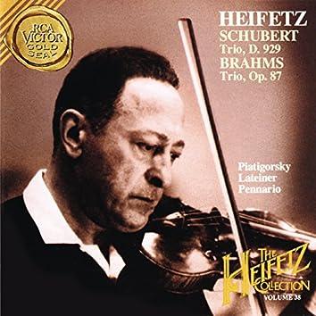 The Piano Trio Collection - Schubert: Trio No. 2 in E-Flat Major, D. 929 - Brahms: Trio No. 2 in C Major, Op. 87 ((Heifetz Remastered))