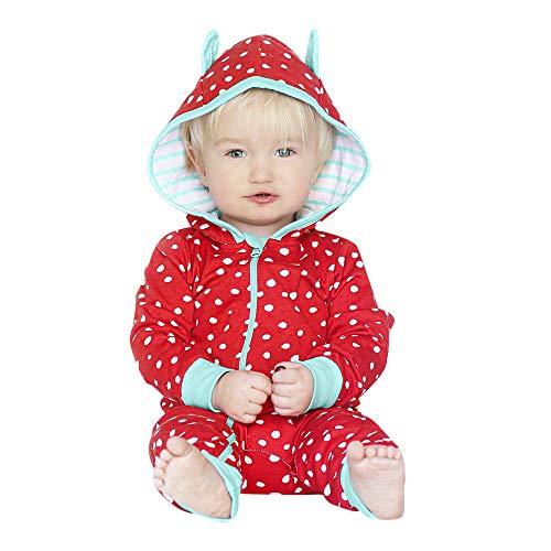 Zarupeng kinder baby capuchon rompler lange mouwen hoodie jumpsuit speelpak punt druk ritssluiting jongens meisjes overall slaapzak