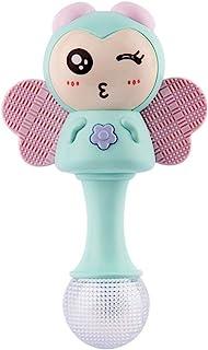 TOYANDONA Baby Rattles Shaker Bee Shape Infant Handbells Teether Rattles Toys for Infant Newborn Boy Girl