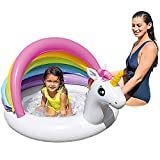 Riverry - Piscina per neonati con tettoia per ombrellone, piscina gonfiabile, per bambini, piscina, per bambini, piscina, piscina, piscina, piscina, per veranda, unicorno, per età 123 anni