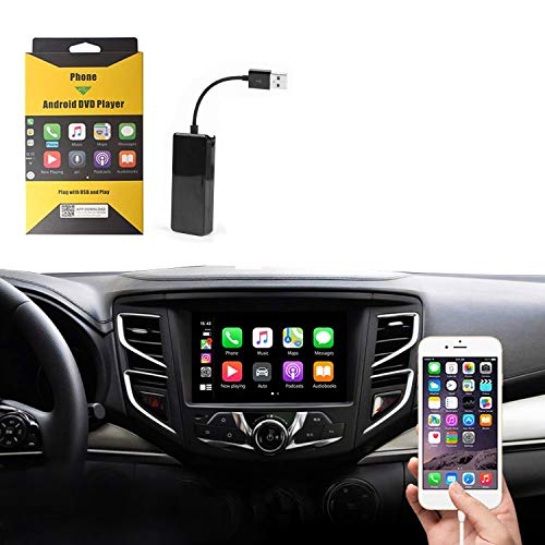 ViFun Wired USB Carplay Dongle,Android Auto, Mirroring,Smartphone Link Receiver for Car Radio with Android Head Unit carplay Upgrade/USB Connect/SIRI Voice Control/Google and Waze maps (Black)