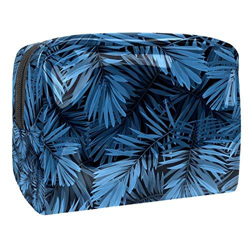 Bolsa de maquillaje de PVC para mujer y niña, organizador de artículos de tocador cosméticos, bolsa de 7.3 x 3 x 5.1 pulgadas, hojas de acuarela