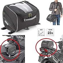 Compatible con Suzuki Burgman AN 400 i.e. Bolsa de sillín o Tunnel Givi EA122 Negro 23 litros Bolsa para Moto Scooter maxiscooter Universal 290 x 250 x 310 mm Mochila con asa, Correa
