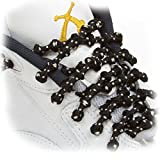 XTENEX - X300 Black/Beige/Vanilla 30 (PATENTED) Adjustable Eyelet Blocking No Tie Elastic Shoe Laces for an Extreme Lock In Performance Fit