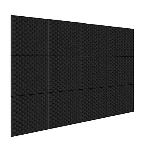 Neewer - Confezione da 12 - Pannelli fonoassorbenti da studio, pannelli in schiuma acustica da 2,5 X 30,5 X 30,5 per casa e studio