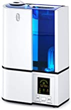 TaoTronics Cool Mist Humidifier, 4L Ultrasonic Humidifiers for Large Bedroom Home Baby, Quiet Operation, LED Display with Humidistat, Waterless Auto Shut-Off