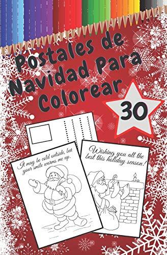 Postales De Navidad Para Colorear: Tarjetas Rasgables Hechas a Mano Para Colorear y Compartir | Crea Tus Propias Bendiciones | Cotizaciones Divertidas | Libro Para Adultos y Niños