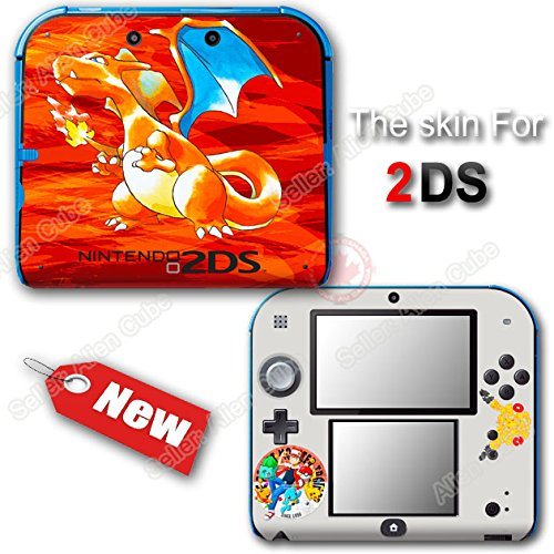 Pokemon 20th Anniversary Red Edition Pokémon Charizar Skin Sticker Cover for 2DS
