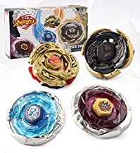 CLeternal Metal Master Fusion Storm with 4D Launcher Grip Gyro Top Set 4 in 1