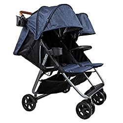 top 10 upf 50 umbrella Zoe Twin + Luxe (Zoe XL2) Stroller – The Best Lightweight Double Stroller for Toddlers – Everyday Twin…