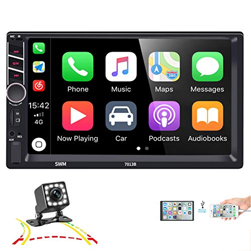 Double Din Car Stereo with Mirror Link D-Play for Android iOS Phone, Car Stereo 7 inch Touch Screen...