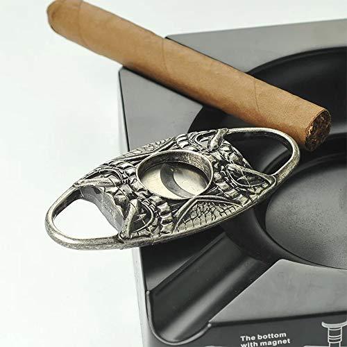 JAY-LONG Mini Cigar Cutter, Edelstahl Schere Gebrochen Triple 2 Klingen Zigarrenschneider Maschine, Tragbare Kubanische Zigarrenschneider, Geeignet Für Die Meisten Zigarren
